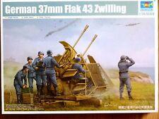 Trumpeter 1:35 37mm Flak 43 Zwilling German AA Gun Model Kit