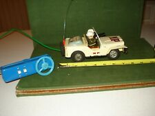 1962 LINEMAR BATTERY OPERATED MP (MILITARY POLICE) TOY JEEP, REMOTE CONTROL