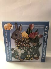 300 PC LG FORMAT Bits & Pieces Jigsaw Puzzle Bunny -new