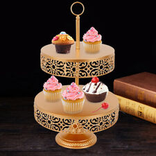 Cupcake Stand 2-Tier Metal Cake Dessert Wedding Event Party Display Tower Plate