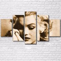 Marilyn Monroe The Blonde Bombshell 5 Panel Canvas Print Wall Art Home Decor