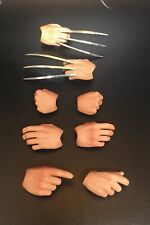 Burning Soul 1/6 Scale Wolverine CLAWS And Hands Fist Set Logan angry version