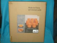NIB BRAND NEW SET OF 8 FLAMELESS LED CANDLES - PREMIUM COLLECTION - APRICOT