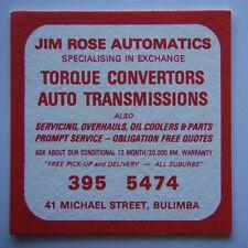 Jim Rose Automatics Bulimba 3955474 Morningside Australian Football Club Coaster