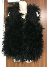 KURT BEINES Black Faux Fur Vest Gilet - ONE SIZE -  £105