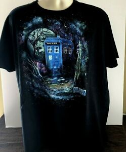Doctor WHO  and the Daleks phone booth T SHIRT MEN'S SIZE XL TEE NICE COND