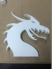 Foam DRAGON HEAD ! great for hanging on the wall! FIRE FABLE CREATURE FANTASY