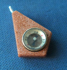 Victorian Working Compass Fob Charm or Pendant c.1900 - Goldstone