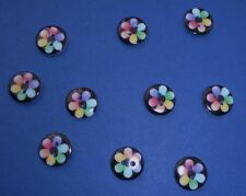 20   So Pretty Multi coloured  2 Hole  Resin Buttons    12 mm Wide   Wt 10 g