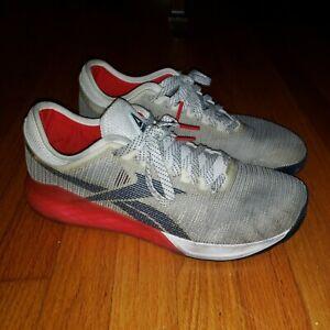 Reebok Nano  mens White Light sand Red Athletic Crossfit Sneaker size 12