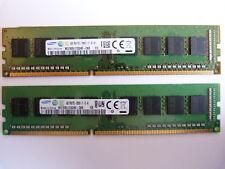 2x 4GB Samsung M378B5173QH0-CK0 8GB 1600MHz DDR3 RAM PC-12800U PC RAM Kit