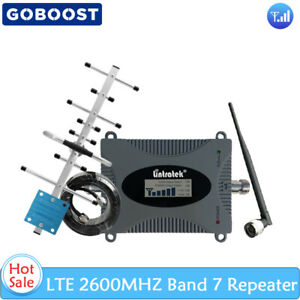 LTE 2600MHz Band 7 Cell Phone Signal Booster Voice Data Amplifier Set Home Use