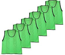 Team Sports Practice Jersey Mesh Scrimmage Training Vest Pinnies YOUTH Pack of 6