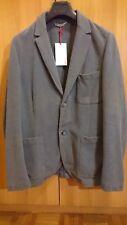 TRUSSARDI giacca uomo Taglia 48 Nuova Listino 349€ grigia grigio blazer  cotone 8ab8234fda2