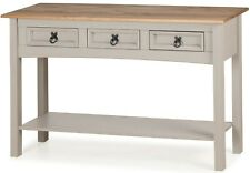 Corona Grey Wax 3 Drawer Console Table by Mercers Furniture®