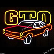 The New GTO From Pontiac Flying Machine Beer Bar Real Neon Light Sign FAST SHIP