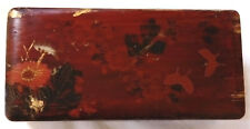 VICTORIAN, CHINESE, HAND MADE PAPIER MACHE BOX, HAND PAINTED AS SEEN