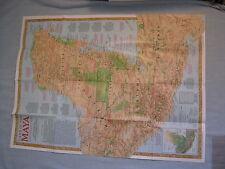 LAND OF THE MAYA TRAVELER'S MAP+ANCIENT MAYA WORLD National Geographic Oct. 1989
