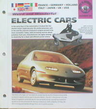 ELECTRIC CARS Brochure:EV1,Peugeot 106,HYBRID,SUNRAY,