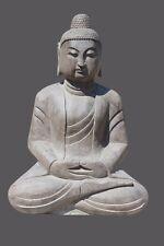 Amitabha Buddha Figur Garten Buddha Naturstein Tibet Statue tibetische Skulptur
