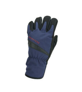 SealSkinz Waterproof All Weather Cycle Gloves - Navy Blue / Black
