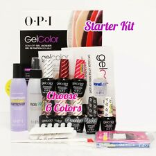 OPI GelColor Soak Off Gel Starter Intro Icons Kit: Base Top+6 O.P.I Color Set+..