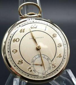 Vintage Girard-Perregaux Pocket Watch 17j 10k Gold Filled 12s Thin Dress Case