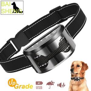 New USB Rechargeable Ultrasonic Dog Collar Bark Stopper Anti-barking Device