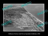 OLD POSTCARD SIZE PHOTO OF MELBOURNE VICTORIA EDITHVALE & ASPENDALE c1960