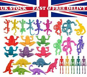 Stretchy Skeleton ,Frog Lizard,Dinosaur Birthday Party Loot Bag Children Kid Toy