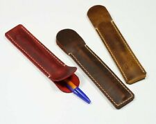 Pen case leather, Single Pencil case Pen sleeve Pencil holder Pen cover Handmade
