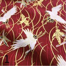 Japanese Cotton Floral Fabric Cloth Retro Kimono Ocean Wave 100*150cm Soft Craft