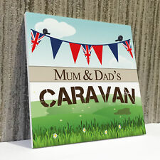 Personalised Caravan Campervan Friendship Gift Hanging Plaque Mum Dad Nan Sign