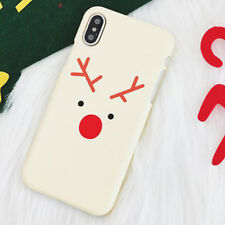 Snowman Elk 3D Soft Phone Case Cover For iPhone 6 6s 7 8 X Plus Christmas Gifts