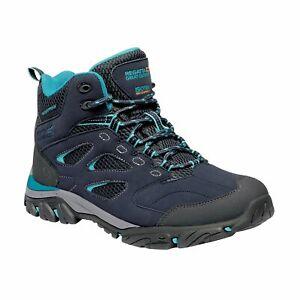 Regatta Women's Lady Holcombe IEP Waterproof Mid Walking Boots - Navy Azure Blue
