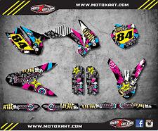 KTM 85 SX- 2013 - 2017 Full Custom Graphic Kit RUSH STYLE decals / stickers
