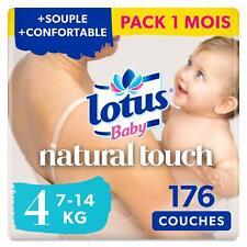 Lotus Baby Natural Touch - Couches Taille 4 7-14 kg - lot de 8 paquets de 22 ...