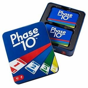Mattel Games The Official Phase 10 Tin Rummy Type Family Friendly Card Game New