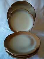 REDUCED Frankoma Pottery 5G & 5FS Plates Desert Gold Red Clay EUC