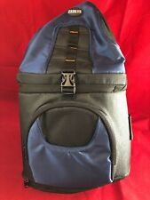 Zeikos DSLR Large Camera Bag Pack Case w/ ShoulderStrap Navy Blue/ Black  NEW