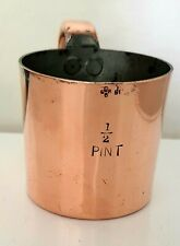 Antique Copper rum measure British Royal Navy Rum GROG 1/2 Pint