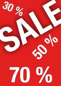 DIN A1 Sale Plakat Aushang 25% 50% 70% Poster Abverkauf Reduziert B Ware