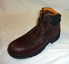 "Timberland Pro Womens Size 6 M Med Titan 6"" Steel Toe Waterproof Work Boot BROWN"