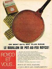 L- Publicité Advertising 1963 Le Bouillon De Pot-au-feu Royco