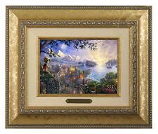 Thomas Kinkade Disney's Pinocchio Framed Brushwork (Gold Frame)