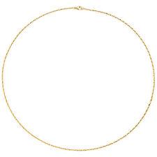 Collier Halskette 750 Gold Gelbgold diamantiert 1,0 mm 42 cm Kette Goldkette.