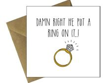 ENGAGEMENT WEDDING CARDS OCCASION Comedy Funny Humour Congratulations / FR