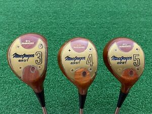MacGregor Golf 693T Persimmon 3 4 5 WOOD SET Right Handed Steel Stiff Matching #