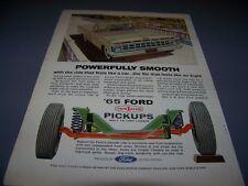 VINTAGE..1965 FORD PICKUP (GOLD)..ORIGINAL SALES AD...RARE! (215G)