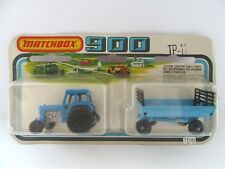 Matchbox Superfast TP11 Ford Tractor & Trailer - Blue w/Yellow Int - Mint/Boxed